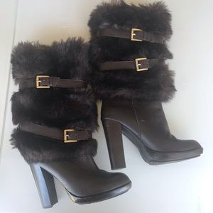Micheal Kors Faux Fur boots